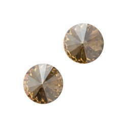 Swarovski 1122 Rivoli Crystal Golden Shadow F - 10.7mm