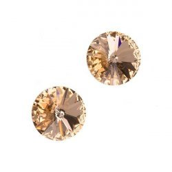 Swarovski 1122 Rivoli Crystals Light Peach F 10.7mm PK2