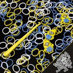 200 Despicable Me Minion Loom Bands Inc Hook & S-Clips