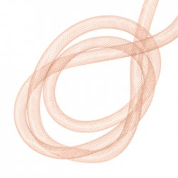 Hollow Nylon Mesh Tubing Crafts 8mm Light Rose 3 metre