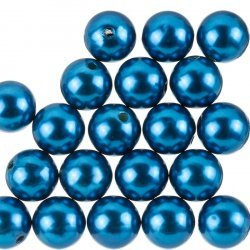 Acrylic Pearl Beads Round 14mm Round Teal - Pack of 20