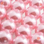 14mm Acrylic Pearl Beads Round (Light Pink) Pack of 20