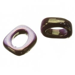 Purple Ceramic Spacer Beads Fit Regaliz Leather 15x18mm