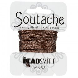 Beadsmith Soutache Metallic Cord 3mm Wide - Bronze 3yd