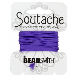 Beadsmith Soutache Polyester Cord - Dark Lilac 3 yards