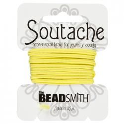 Beadsmith Soutache Polyester Cord 3mm Wide - Maize 3yd