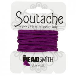 Beadsmith Soutache Polyester Cord 3mm Wide Magenta 3yd