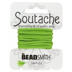 Beadsmith Soutache Polyester Cord - Limelight 3 yards