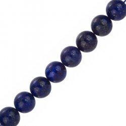 "Round Natural Blue Lapis Lazuli Beads 12mm 7.5"" Strand"