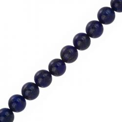 "10mm Natural Blue Lapis Lazuli Round Beads 7.5"" Strand"