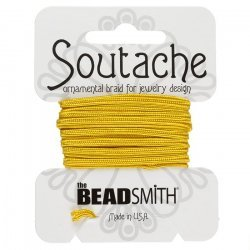 Beadsmith Soutache Rayon Cord 3mm Wide - Goldenrod 3yd