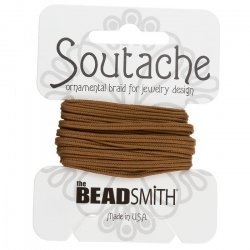 Beadsmith Soutache Polyester Cord - Light Brown 3 yards