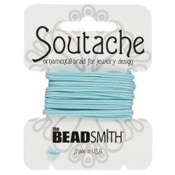 Beadsmith Soutache Polyester Cord 3mm Wide - Marine 3yd