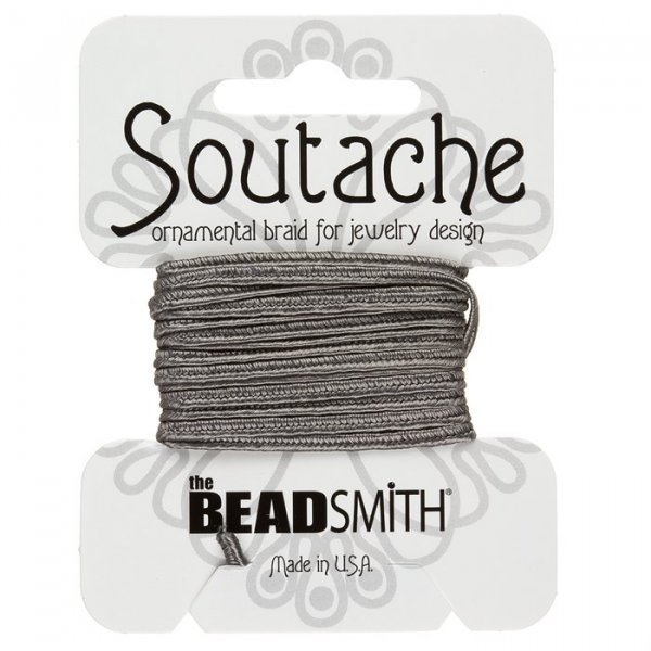 Beadsmith Soutache Rayon Cord 3mm Wide - Smog 3 yards
