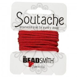 Beadsmith Soutache Rayon Cord 3mm Wide - Poinsetta 3yd