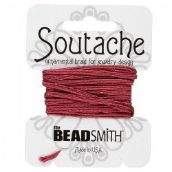 Beadsmith Soutache Rayon Cord 3mm Wide - Rose 3 yards