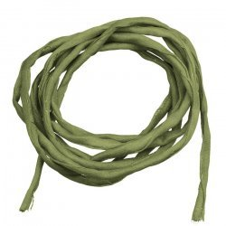 Silk Fabric Strings 2mm Hand Dyed Olive Green 1metre