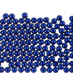 6mm Acrylic Pearl Beads Round Midnight Blue Pack of 200