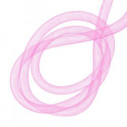 Nylon Mesh Tubing for Jewellery Crafts Pink 8mm 3 metre
