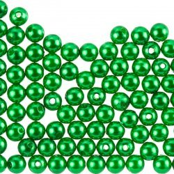 8mm Acrylic Pearl Beads Round Forest Green Pack of 100