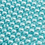 6mm Acrylic Pearl Beads Round (Cyan Blue) - Pack of 200