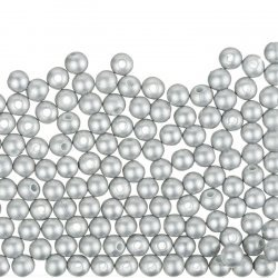 Round Acrylic Pearl Beads 6mm (Shiny Grey) Pack of 200