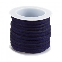 3mm Flat Faux Suede Cord Lace Marine Blue 5 Metre Reel
