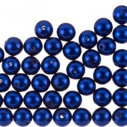 Acrylic Pearl Beads Round 10mm Midnight Blue Pack of 50