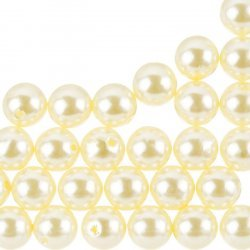 Acrylic Pearl Beads Round ABS Cream (12mm) - Pack of 30
