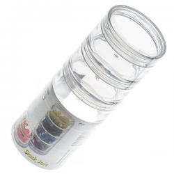 Beadsmith Clear Bead Stack Jars 5 Storage Compartments