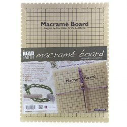 Beadsmith Large Macrame Board With Instructions 10""
