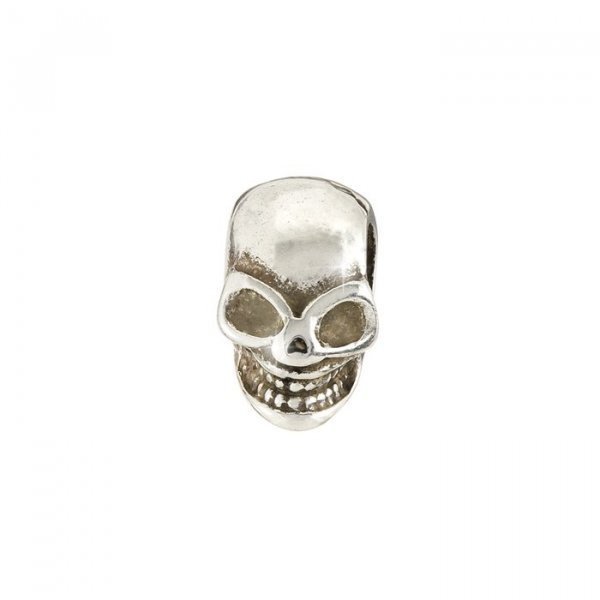 Antique Silver Skull End Cap fits Regaliz Leather 20mm