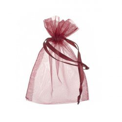 Large Drawstring Organza Gift Bags Dark Red 15x11cm PK6
