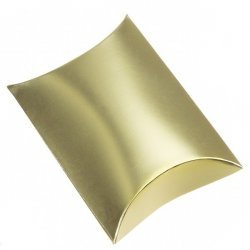Gold Mini Pillow Jewellery Gift Box 12x8x3cm PK1