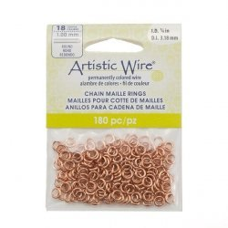 Copper Artistic Wire Chain Maille Rings 18 Gauge 3.18mm