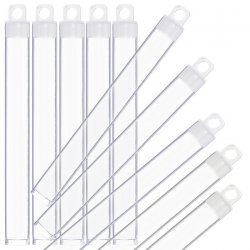 Plastic Hangable Tubes Seed Bead Containers 125mm - PK10