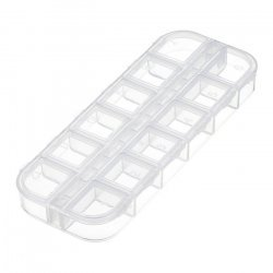 Plastic Seed Bead Container Storage Box 12 Compartments