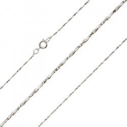 """Silver Plated 1mm Twisted Beading Chain Necklace 18"""""""