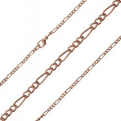 Figaro Copper Plated Chain Finished Lobster Clasp 18""