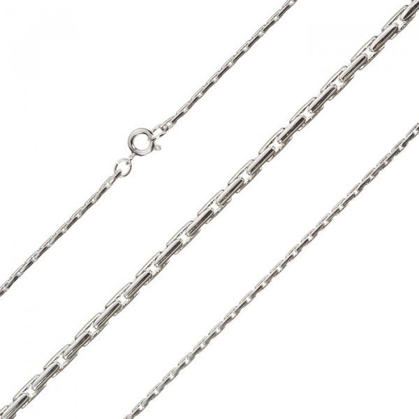 Silver Plated 1.5mm Round Beading Chain Necklace 18