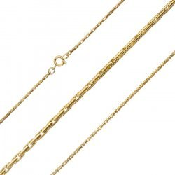 Gold Plated 1.5mm Round Beading Chain Necklace 18