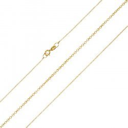 """9ct Solid Gold Fine Trace Chain With Clasp 18"""" Necklace"""