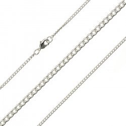 """0.5mm Fine Curb Chain Finished 1.8mm Silver Plated 15.5"""""""