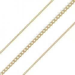 0.5mm Fine Curb Chain Unfinished 1.8mm Gold Plated 1m