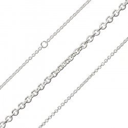 2mm Round Link Chain Silver Plated Steel 1 Metre Length