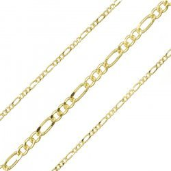 2mm Unfinished Figaro Chain Gold Plated Steel 1 metre