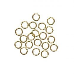 Small Jump Rings 4mm Gold Plated Brass 0.7mm Thick PK20
