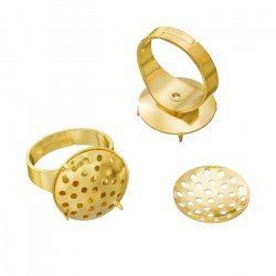 Adjustable Ring Bases Gold Plated 16mm Sieve Disc PK2