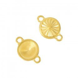 Rivoli Frame Setting Connector Faceted Charm Gold 11mm