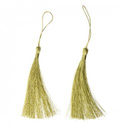 Gold Chainette Tassel for Beading 3.5 inches PK2
